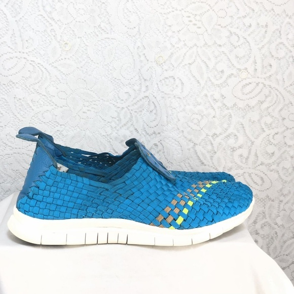Nike Other - B54 NIKE FREE WOVEN SZ 11 NEO TURQUOISE BLUE GREY